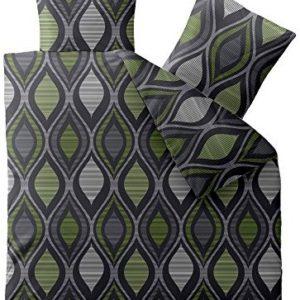 Kuschelige Bettwäsche aus Microfaser - grün 200x220 von CelinaTex