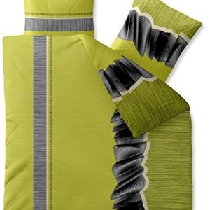 Hübsche Bettwäsche aus Microfaser - grün 200x220 von CelinaTex