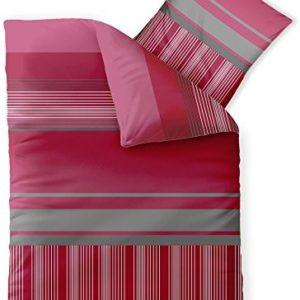 Hübsche Bettwäsche aus Microfaser - rosa 135x200 von CelinaTex