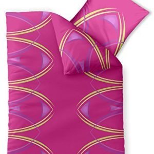 Hübsche Bettwäsche aus Microfaser - rosa 155x220 von CelinaTex