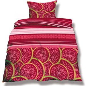 Traumhafte Bettwäsche aus Microfaser - rosa 155x220 von CelinaTex