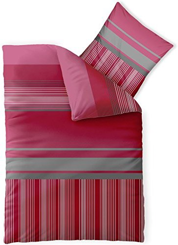 kuschelige bettw sche aus microfaser rosa 155x220 von. Black Bedroom Furniture Sets. Home Design Ideas