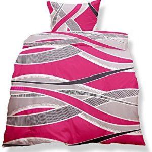 Schöne Bettwäsche aus Microfaser - rosa 155x220 von CelinaTex