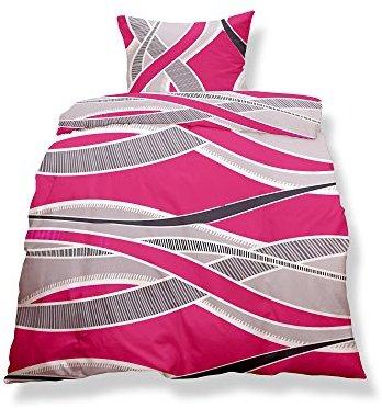 Kuschelige Bettwäsche aus Microfaser - rosa 200x200 von CelinaTex
