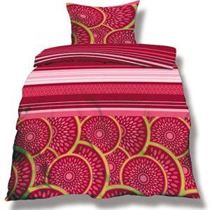 Schöne Bettwäsche aus Microfaser - rosa 200x220 von CelinaTex