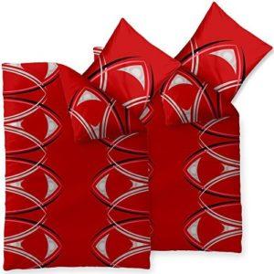 Schöne Bettwäsche aus Microfaser - rot 135x200 von CelinaTex