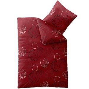 Hübsche Bettwäsche aus Microfaser - rot 135x200 von CelinaTex