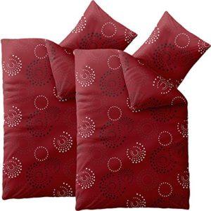 Kuschelige Bettwäsche aus Microfaser - rot 135x200 von CelinaTex