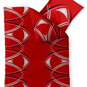 Hübsche Bettwäsche aus Microfaser - rot 155x220 von CelinaTex