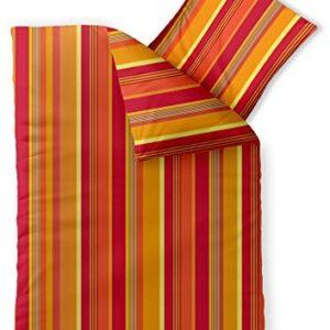 Schöne Bettwäsche aus Microfaser - rot 155x220 von CelinaTex