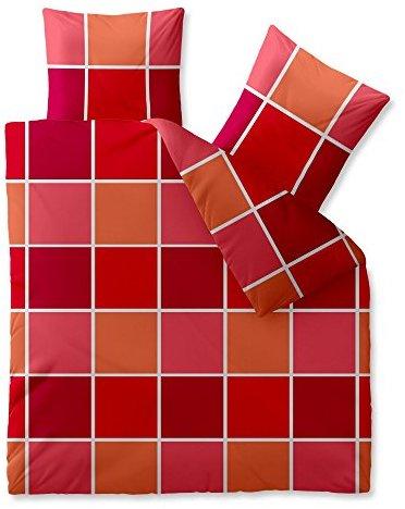 Hübsche Bettwäsche aus Microfaser - rot 200x200 von CelinaTex
