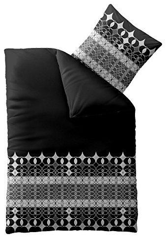 Schöne Bettwäsche aus Microfaser - schwarz 135x200 von CelinaTex