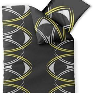 Kuschelige Bettwäsche aus Microfaser - schwarz 155x220 von CelinaTex