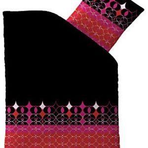 Hübsche Bettwäsche aus Microfaser - schwarz 155x220 von CelinaTex
