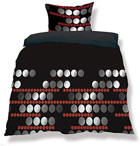 traumhafte bettw sche aus microfaser schwarz 200x200 von. Black Bedroom Furniture Sets. Home Design Ideas