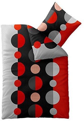 Schöne Bettwäsche aus Microfaser - schwarz 200x200 von CelinaTex