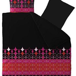 Traumhafte Bettwäsche aus Microfaser - schwarz 200x200 von CelinaTex