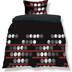 Kuschelige Bettwäsche aus Microfaser - schwarz 200x220 von CelinaTex
