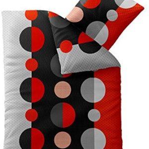 Schöne Bettwäsche aus Microfaser - schwarz 200x220 von CelinaTex