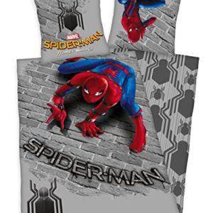 Traumhafte Bettwäsche aus Microfaser - Spiderman 135x200 von Marvel