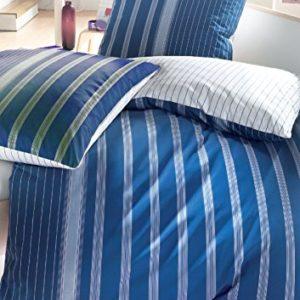Kuschelige Bettwäsche aus Perkal - blau 135x200 von Brennet