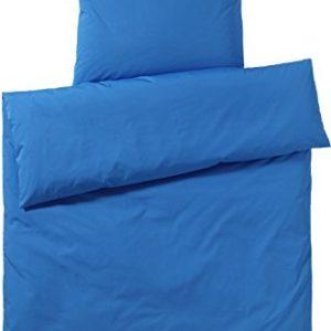 Kuschelige Bettwäsche aus Perkal - blau 135x200 von elegante
