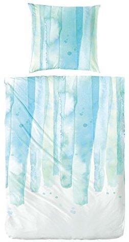 Traumhafte Bettwäsche aus Perkal - blau 135x200 von Hahn