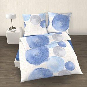 Schöne Bettwäsche aus Perkal - blau 135x200 von IDO