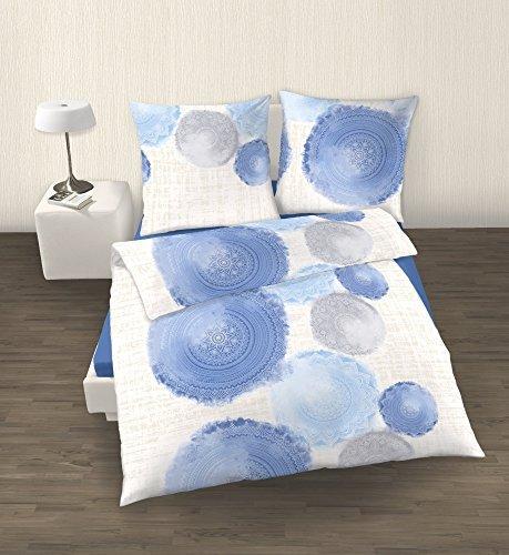sch ne bettw sche aus perkal blau 135x200 von ido bettw sche. Black Bedroom Furniture Sets. Home Design Ideas