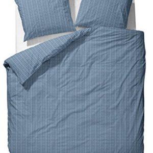 Hübsche Bettwäsche aus Perkal - blau 135x200 von Marc O'Polo HOME