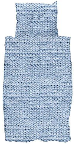Kuschelige Bettwäsche aus Perkal - blau 135x200 von Snurk