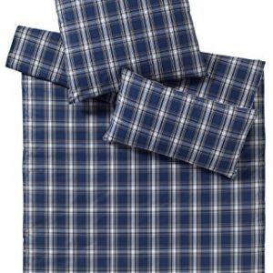 Schöne Bettwäsche aus Perkal - blau 155x220 von elegante