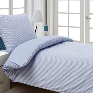 Traumhafte Bettwäsche aus Perkal - blau 155x220 von saleandmore