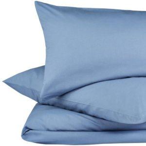 Hübsche Bettwäsche aus Perkal - blau 155x220 von URBANARA
