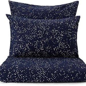 Schöne Bettwäsche aus Perkal - blau 155x220 von URBANARA