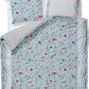 Hübsche Bettwäsche aus Perkal - blau 200x200 von Pip