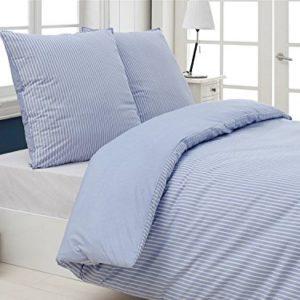 Traumhafte Bettwäsche aus Perkal - blau 200x220 von saleandmore