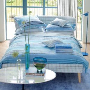 Schöne Bettwäsche aus Perkal - blau 220x240