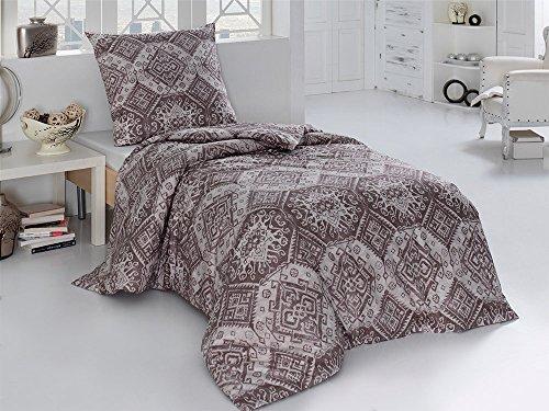 sch ne bettw sche aus perkal braun 155x200 von. Black Bedroom Furniture Sets. Home Design Ideas