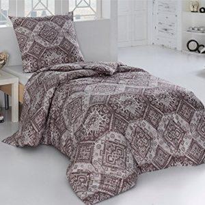 Hübsche Bettwäsche aus Perkal - braun 155x220 von saleandmore