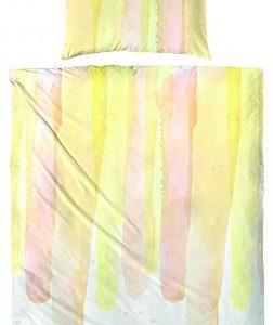 Schöne Bettwäsche aus Perkal - gelb 135x200 von Hahn