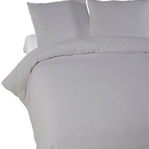 Kuschelige Bettwäsche aus Perkal - grau 135x200