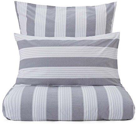Traumhafte Bettwäsche aus Perkal - grau 135x200 von URBANARA