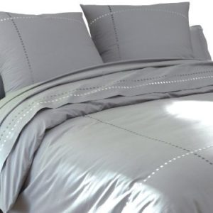 Traumhafte Bettwäsche aus Perkal - grau 140x200 von BLANC CERISE