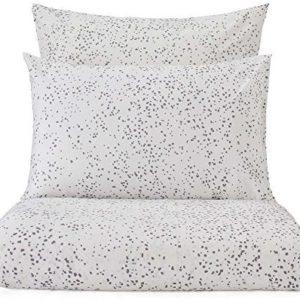 Kuschelige Bettwäsche aus Perkal - grau 155x220 von URBANARA