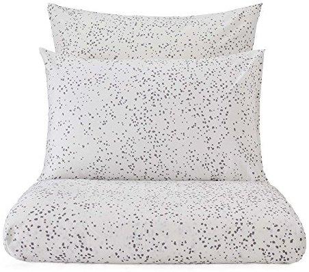 kuschelige bettw sche aus perkal grau 155x220 von. Black Bedroom Furniture Sets. Home Design Ideas
