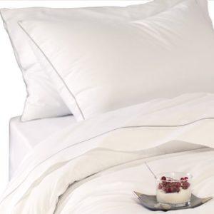 Schöne Bettwäsche aus Perkal - grau 200x200 von BLANC CERISE
