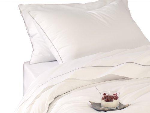 sch ne bettw sche aus perkal grau 200x200 von blanc. Black Bedroom Furniture Sets. Home Design Ideas