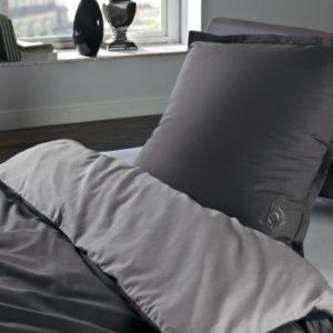 Schöne Bettwäsche aus Perkal - grau 200x200 von Bugatti