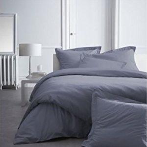Kuschelige Bettwäsche aus Perkal - grau 220x240 von Alpes Blanc